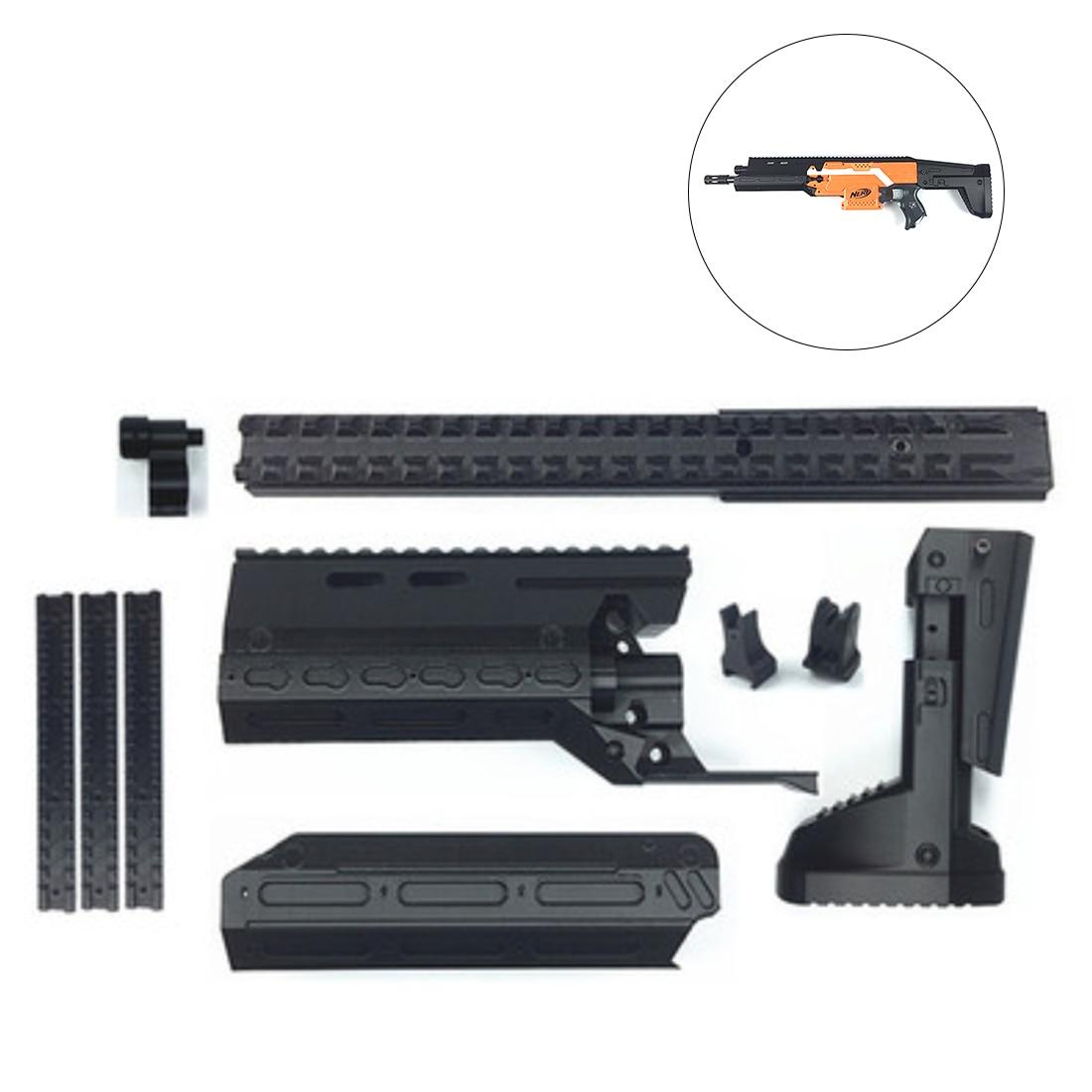 купить Surwish 3D Printing A-CR Type Appearence Modified Kit for Nerf N-Strike Elite Stryfe Blaster - Black по цене 5575.12 рублей