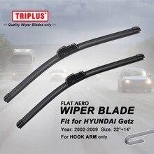 Wiper Blade for Hyundai Getz (2002-2004) 1set 22″+14″, Flat Aero Beam Windscreen Wiper Frameless Soft Wiper Blades