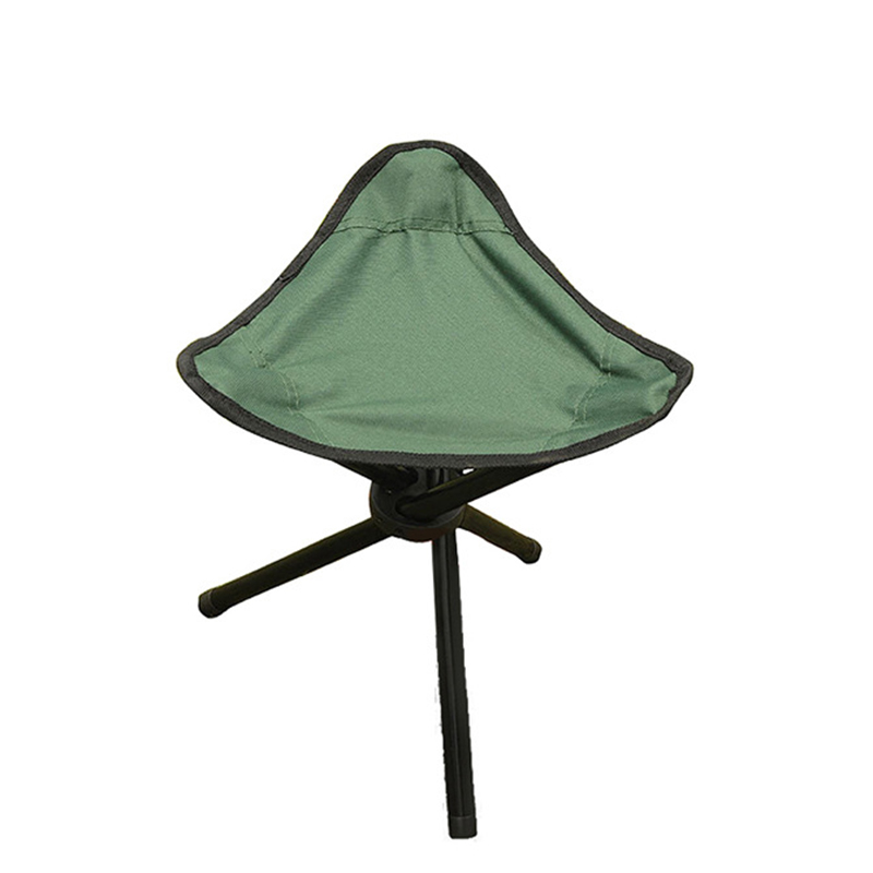 Green Outdoor Chair Stools Portable Foldable Triangular ...