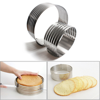 20CM 30CM Adjustable Round Bread Cake Cutter Slicer Stainless Steel Cake Cutter 7 Layers Slicer Mousse Ring Mould Baking Tool Cake Molds     -
