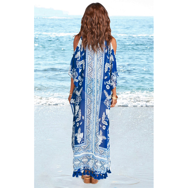 Beach Dresses And Tunics Swim Cover Up Bather For Women Swimsuit Bikini Dress Print Skirt Loose Big Yards Clothes Animal Acetate