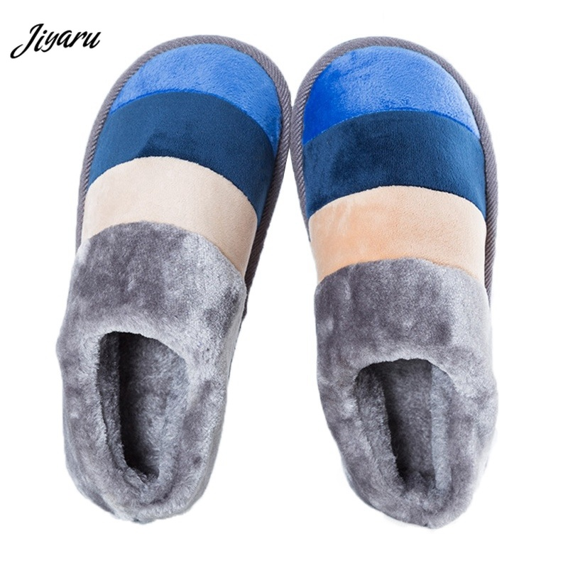 2018 Male Winter Warm Slippers Winter Autumn Men Indoor Slippers Men Soft Shoes for Bedroom Non-slip Men Home Indoor Slippers fghgf shoes men s slippers mak