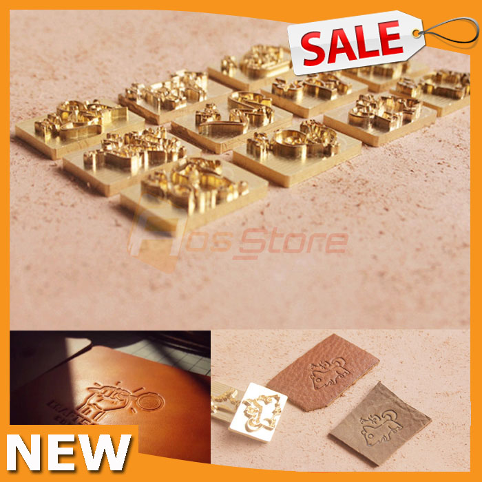 New Custom Mold Seal Stamp Logo Leather Die Carving Tool Foil Embossing Customizatin Brass Die Copper Stamping Mold