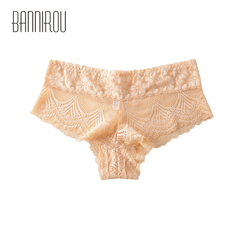 Woman Panties Sexy Lace 1 Pcs Hot Sale Low Waist Underwear Women Breathable Hollow Transparent Female Panties Brand Quality M-XL 1