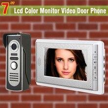7 Inch Video Door Phone Doorbell Intercom System Video DoorBell Video Doorphone Kit Aluminium alloy night vision Camera