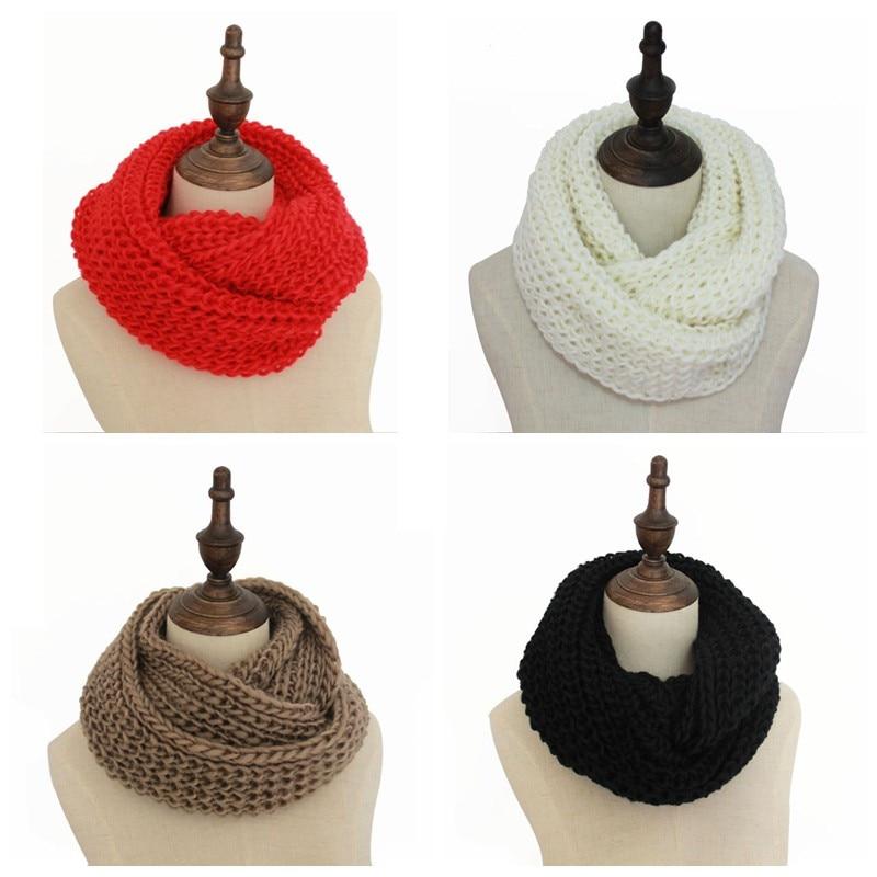 Moda de invierno bufanda de punto bufandas del calentador del cuello ...