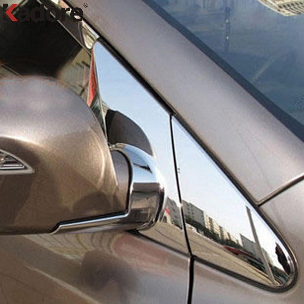 For Hyundai Tucson IX 35 IX35 2010-2015 ABS Chrome Side Door Rearview Mirror Triangle Molding Trims 8pcs/set Plated Car Styling цена