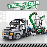 1202Pcs Container Truck Vehicles Car Technic MACK Antheme Trailer Model Building Blocks Compatible Legoingly Toys Children Gift