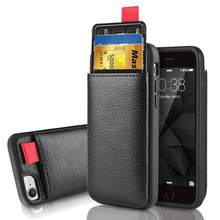 11 Pro Max Leather Case voor iPhone 11 7 6 6S 8 Plus XR XS X Wallet Card Slot cover voor Samsung S8 S9 S10 Plus Note 10 Pro Note 9(China)