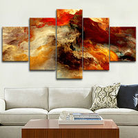 5 Pieces/set print Nebula Modular pictures for home decor Magnificent Abstract space star oil canvas painting poster on the wall