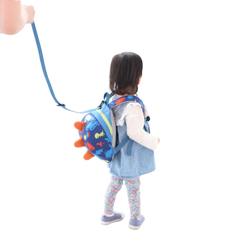 SUNVENO Cute Cartoon Toddler Baby Harness Backpack Leash Safety Anti lost Backpack Strap Walker Dinosaur Backpack