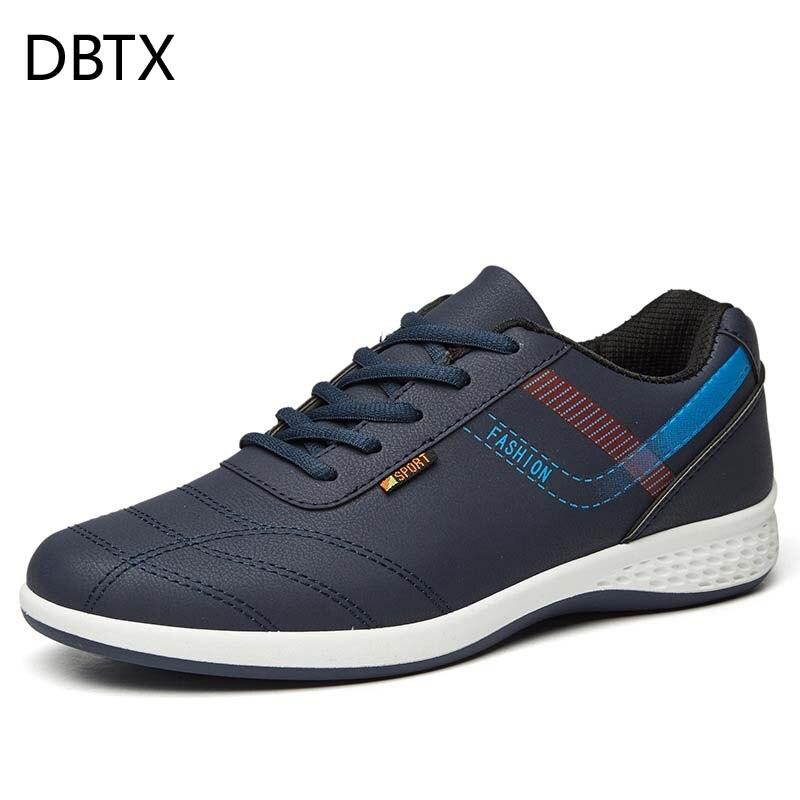 DBTX Männer Leder Freizeitschuhe Mokassins Männer Loafers Luxusmarke Frühjahr Neue Mode Turnschuhe Männliche Bootsschuhe Krasovki 652