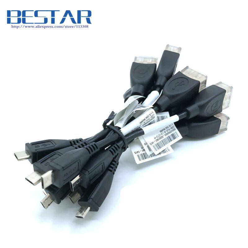 bilder für (100 teile/los) hohe qualität micro usb 2,0 stecker auf usb 2.0 weibliche otg host stecker kabel 10 cm micro-usb 5pin auf-die-go kabel