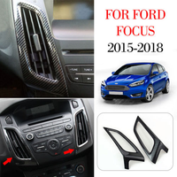 2019 Mew Interior Mouldings For Ford Focus 2015 2016 2017 2018 ABS Carbon Fiber Dashboard Air Conditioner Vent Trim Accessories