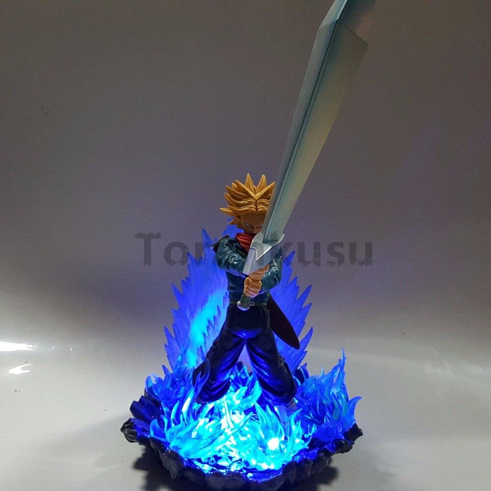 Dragon Ball Z Action Figures Trunks l'épée de l'espoir Power Up Anime Dragon Ball Super Troncs Led Lumières Modèle jouet