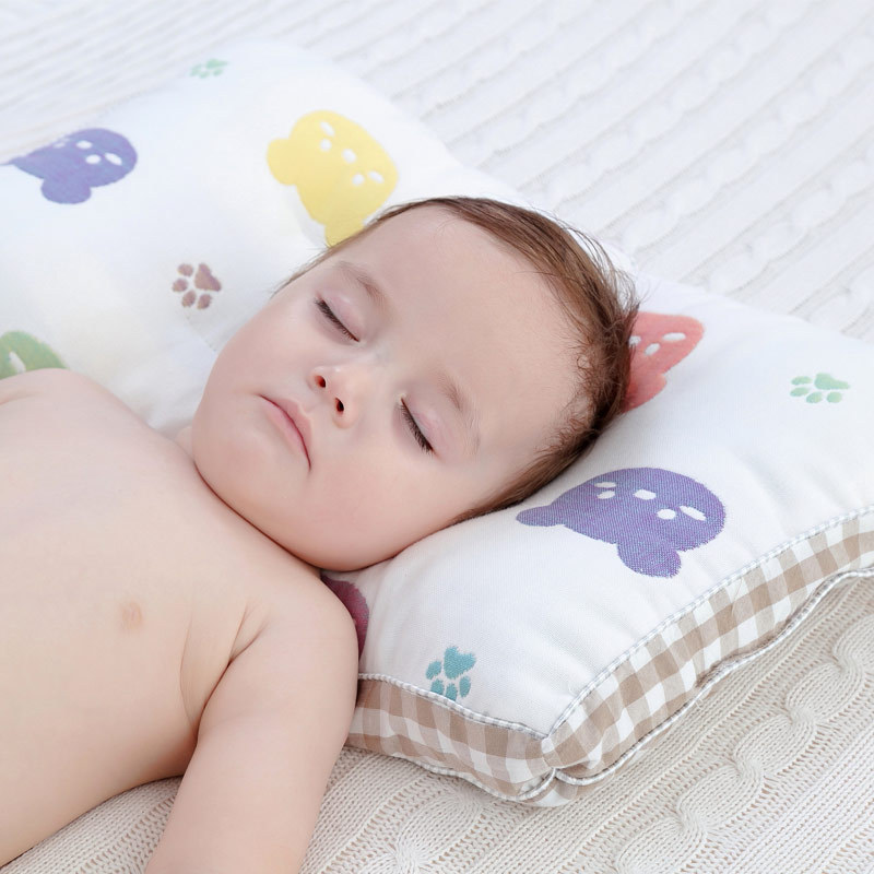 0-6T Anti Flat Head Baby Pillows Newborn Cotton Breathable Infant Shaping Pillow Comfortable Kids Head Protection Nursing Pillow