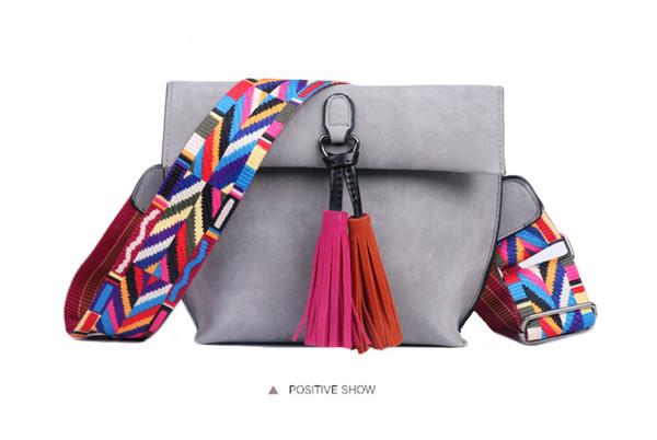 EXCELSIOR Women's Bag Scrub PU Crossbody Bags Luxury Handbags Women Bags Designer bolso mujer Colorful Strap sac a main femme 10