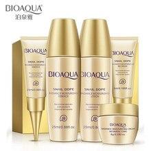 BIOAQUA 5pcs Skin Care Set Whitening Moisturizing Essence Lotion Facial Acid Anti Wrinkle Day Cream Travelling portable set