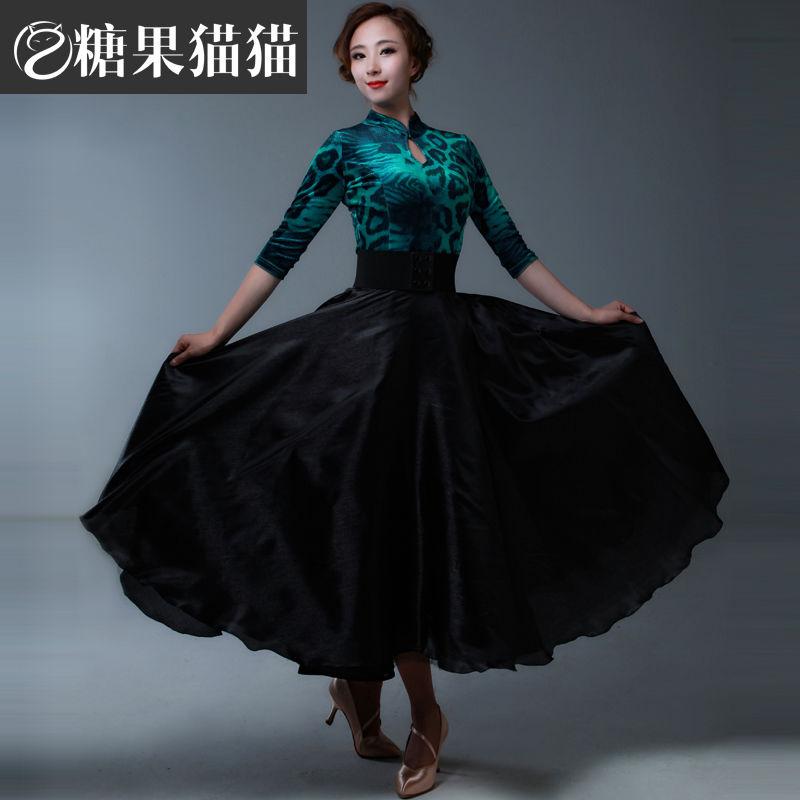 fashion Rushed Promotion Led Costume Ballroom Dance Skirts Adult Women Ballroom Waltz Tango Dance Dress One Piece Competition