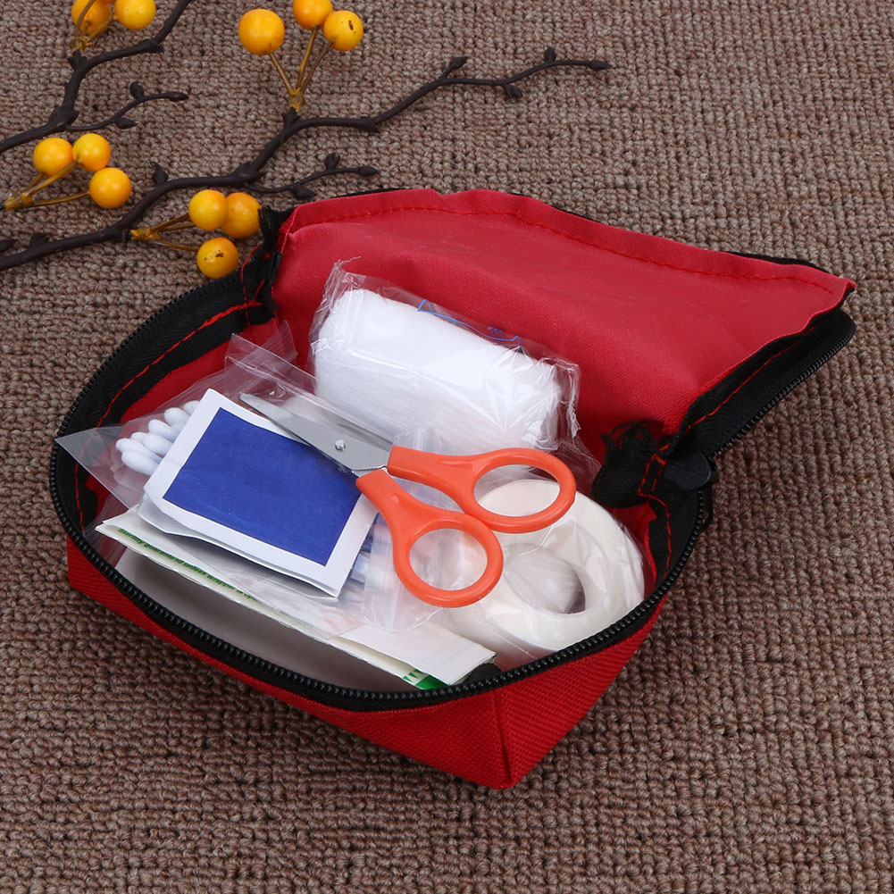 Spirited Mini First Aid Kit Bag Outdoor Camping Home Travel Survival Portable Emergency Kit Bag Safety Small Medical Kits Red 14x9cm A Plastic Case Is Compartmentalized For Safe Storage Camping & Hiking Climbing Accessories