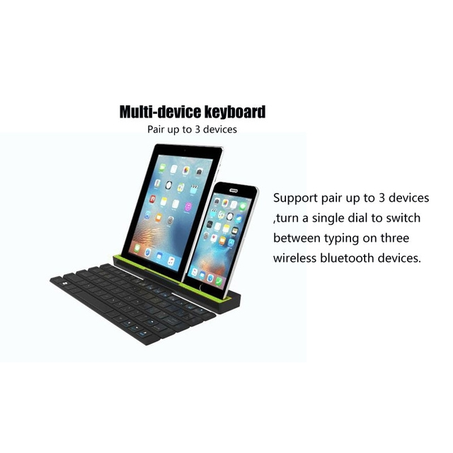 Universal Portable Folding BT Wireless bluetooth Keyboard Rollable Foldable Intelligent Magnetic Switch For Table PC iPad iPhone 4