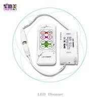 BC 312 4A DC12V 24V 8 keys RF remote LED Dimmer CV PWM Dimmer Controller for SMD 5050 3528 single color LED Strip Lighting tape