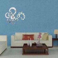 Acrylic mirror stickers diy wall large quart clock Home Decor