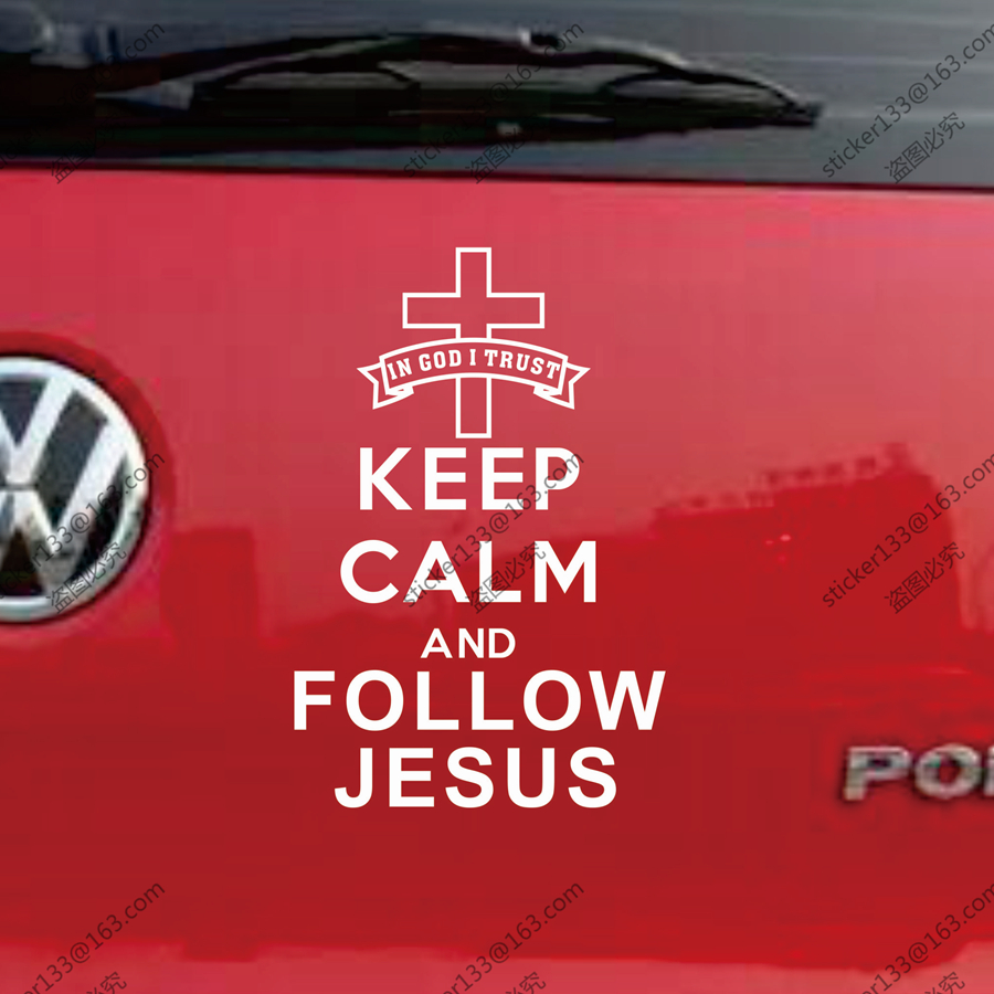 Keep Calm And Follow Jesus Jesus Christ Christian Car Truck Decal ...
