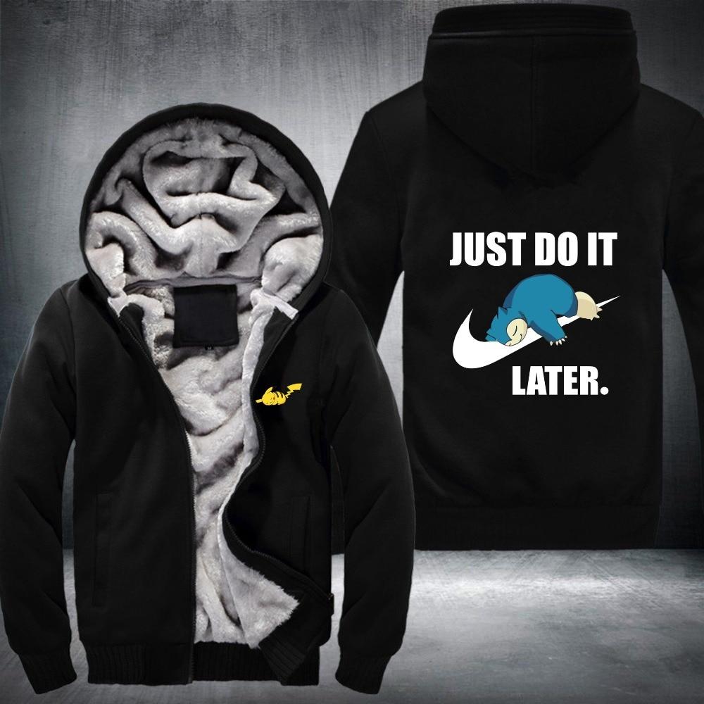 2018  free shipping new style character Later  hoodies men  Hooded Thick Zipper Sweatshirts plus Sizemen hoodies streetwear men
