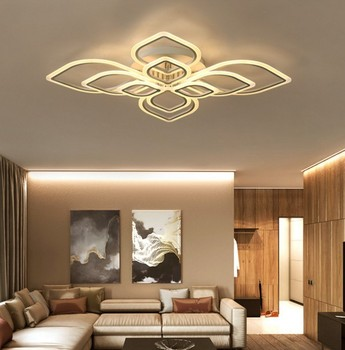 Art deco Surface mounted LED ceiling lights Acrylic Hardware dimming ceiling lamp for home lighting living room Bedroom Ceiling Lights