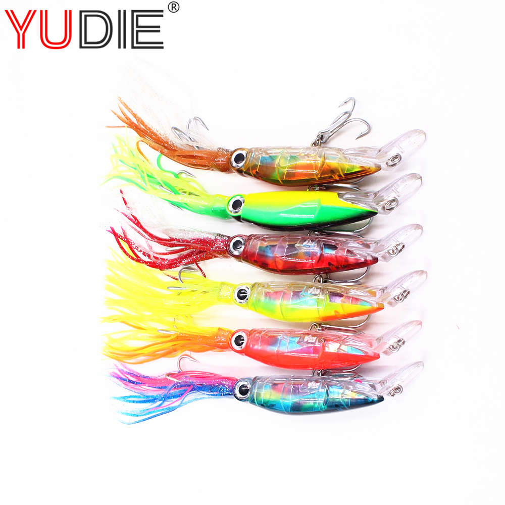 6Pcs / lot High Quality Large Squid Octopus Skirt Trailer Fishing Hammer 21cm42.9g Crank Swing Decoy Tuna Lure Tools 11inch 120g sea fishing lure octopus skirt tuna lure marlin lure big lure game trolling resin head with double octopus skirt
