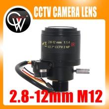 "MP HD Motorizzato 1/2. 7 ""2.8 12mm Varifocale F1.4 M12 Mount DC Iris Auto CCTV IR Security Camera Lens"