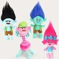 4PCS/Lot New DreamWorks Trolls Plush Toy Poppy Branch Dream Works Stuffed Cartoon Dolls The Good Luck Trolls Children Gift