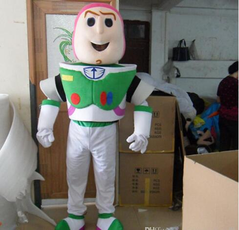 Buzz Lightyear Mascot Cosplay Costumes Fancy Dress Adult Size Xmas Gift