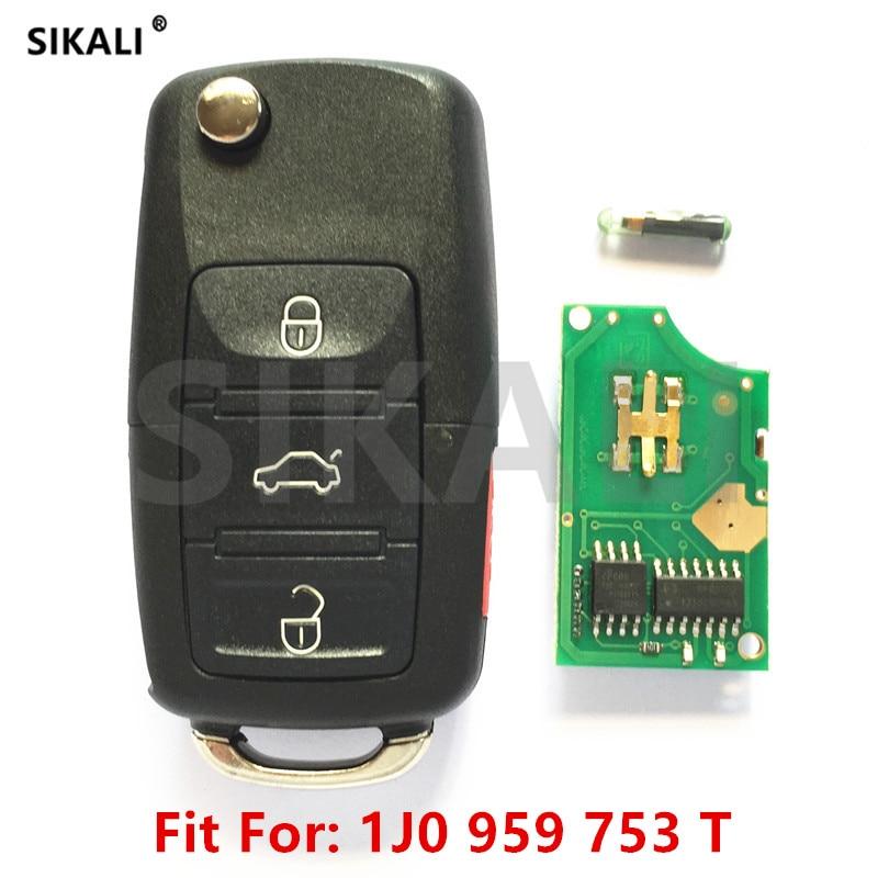 2002 Volkswagen Jetta Key: SIKALI Car Remote Key For 1J0959753T 5FA008410 30 Beetle