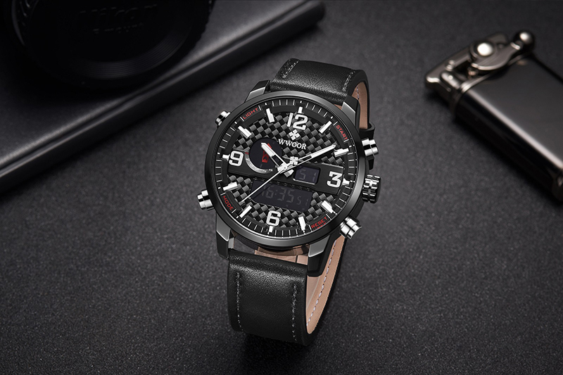 WWOOR 8859 Watch Men Top Brand Luxury Quartz Men\'s Business Military Wrist Watches Leather Analog Clock Men relogio masculino (16)