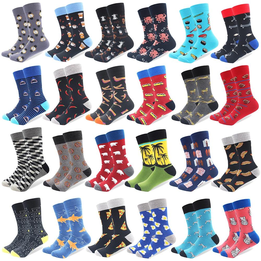 Trustful 1 Pair Drop Shipping Winter Spring Happy Socks 2018 Cotton Men Crew Skateboard Socks Funny Pattern Wedding Socks Gift Without Return Underwear & Sleepwears
