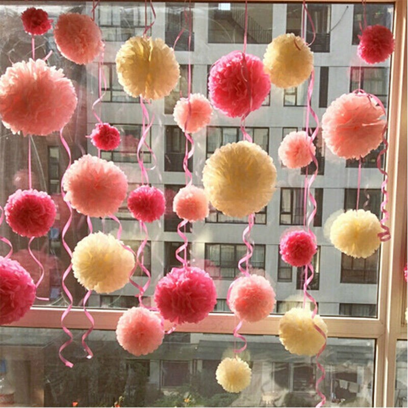 Diy multi colou paper flowers kissing ball wedding birthday party diy multi colou paper flowers kissing ball wedding birthday party car tissue paper pom poms flower balls decoration in artificial dried flowers from home mightylinksfo