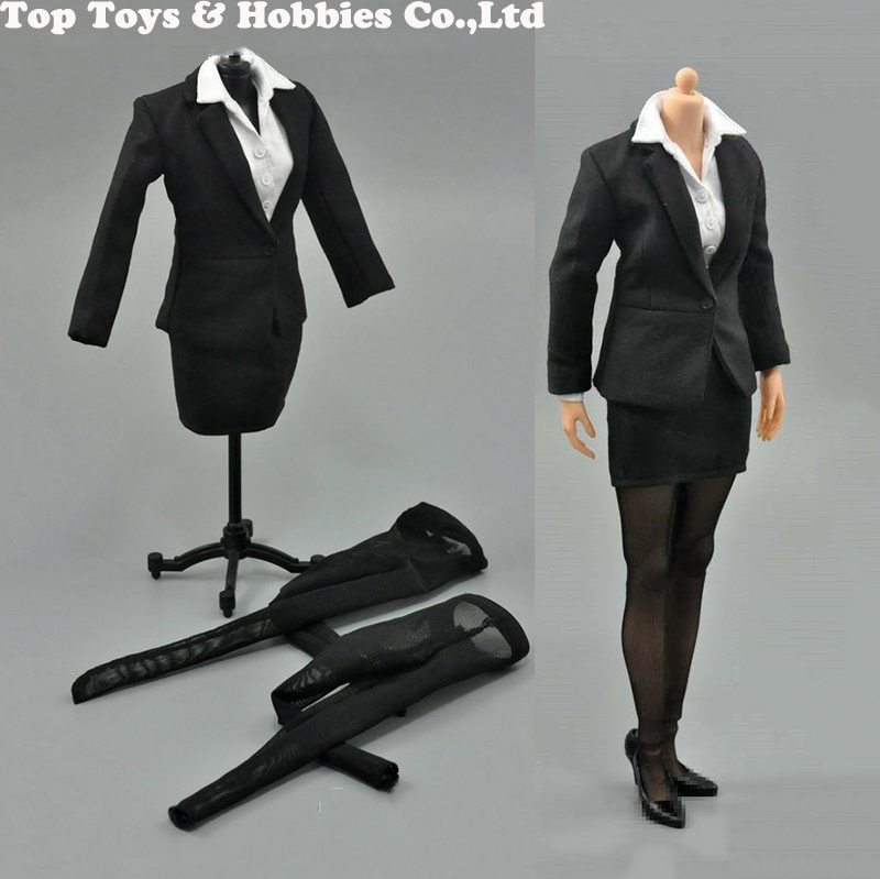 1//6 ACPLAY ATX049B Female Trench Coat /& Stockings Clothing Set F 12/'/' Figure