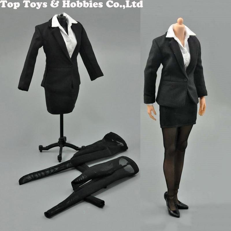 1/6 modèle femmes Occupation femme bureau d'affaires dame crayon jupe ensemble pour 12