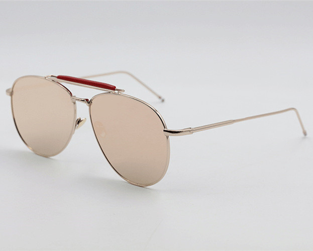 7a7bf653bf New vintage aviator sunglasses men mirror pink gold blue silver sun lenses  glasses for women brand
