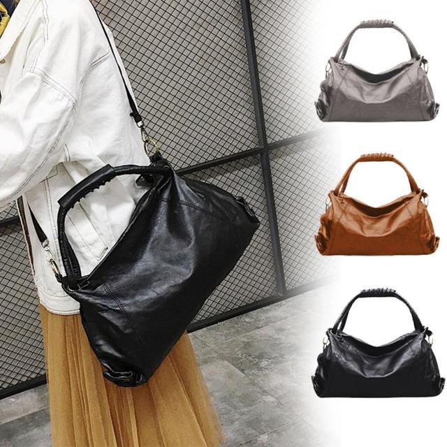 Molave Shoulder Bag new high quality Leather Girl Fashion Hobos Single Handbag  Zipper Solid Soft shoulder b68230a15b03d