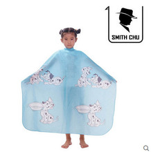 1X SMITH CHU Blue Child Kid Pro Salon Hairdressing Hairdresser Hair Cutting Gown Barber Cape Wrap Cloth Barbers Waterproof Capes