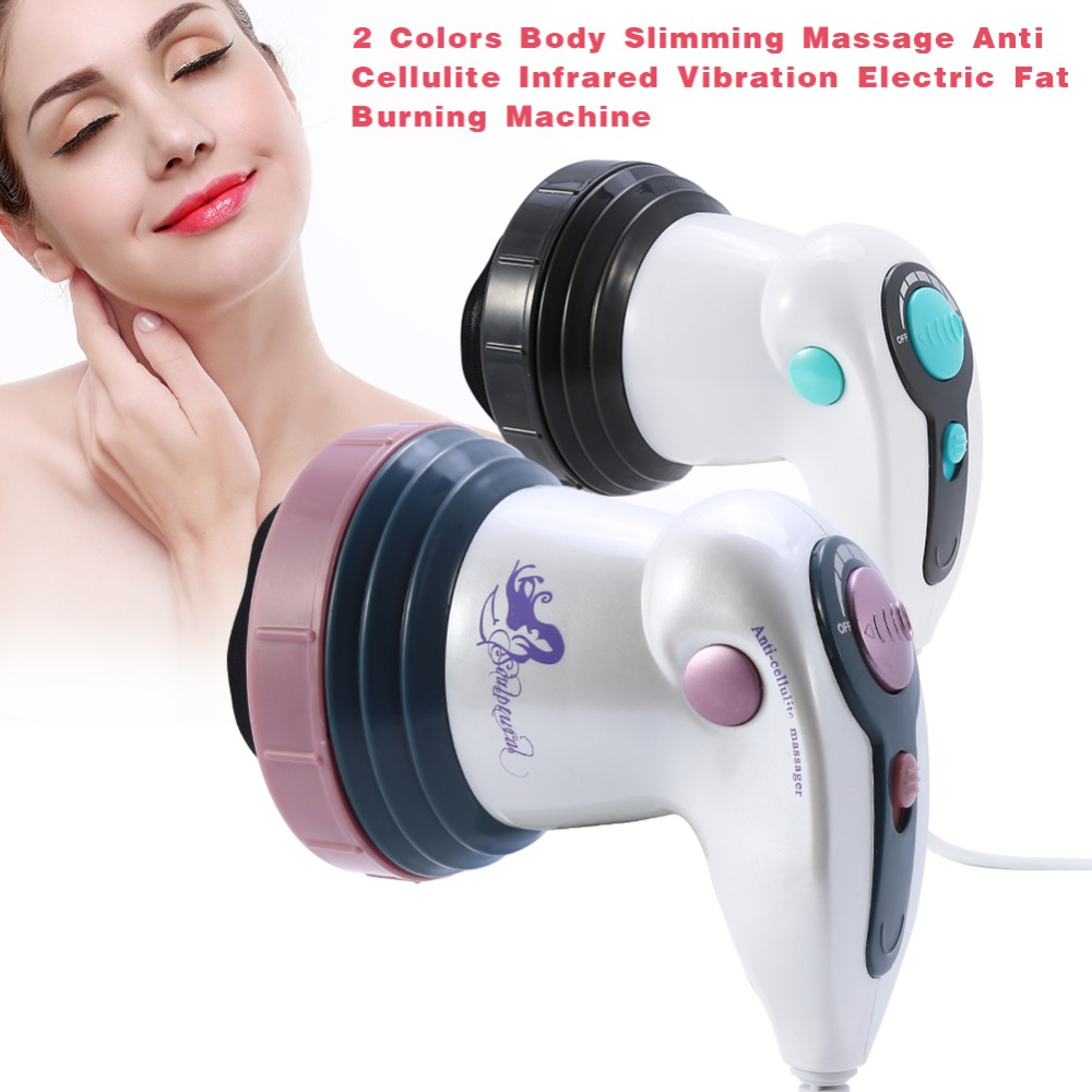 Image 2 - Body Slimming Massage Shaper Anti Cellulite Massager Infrared Vibration Therapy Body Roller Loss Weight Electric Fat Burner Tool-in Face Skin Care Tools from Beauty & Health