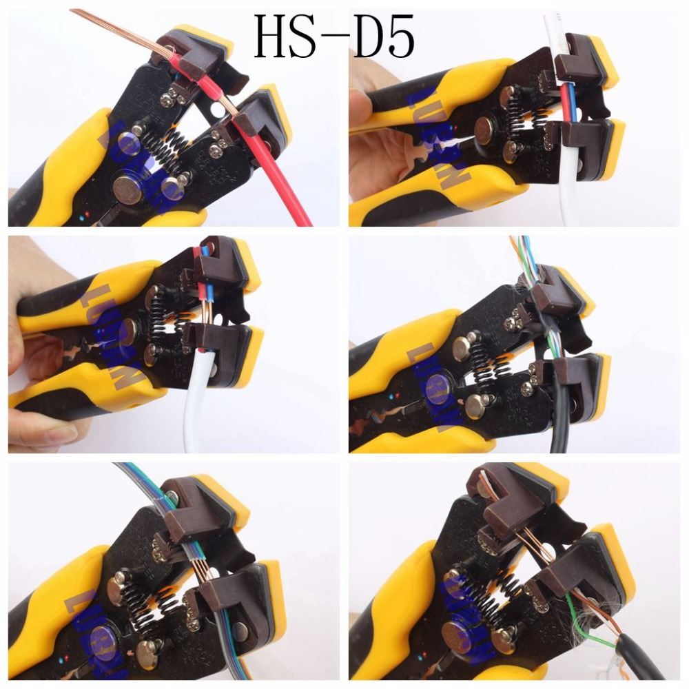 LUBAN HS-D1 AWG24-10 (0.2-6.0mm2 ) Multifunctional automatic stripping pliers Cable wire Stripping Crimping tools Cutting cutter pz0 5 16 0 5 16mm2 crimping tool bootlace ferrule crimper and 1k 12 awg en4012 bare bootlace wire ferrules