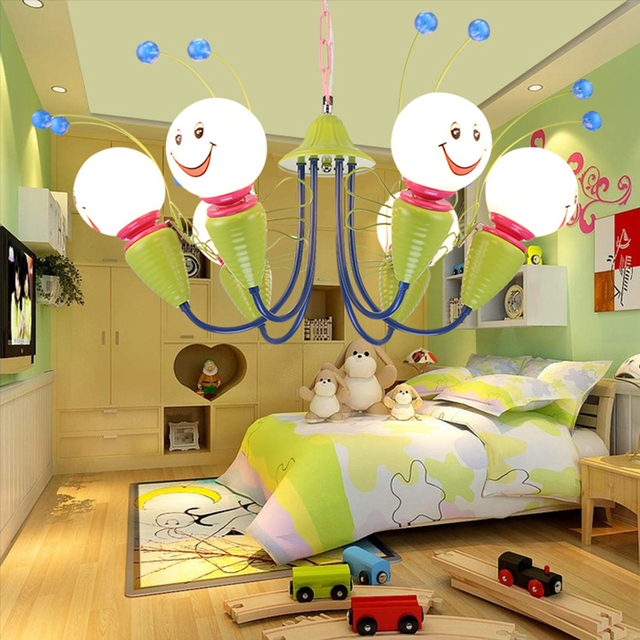 Little Bees Children S Room Ceiling Lamp Cartoon Lovely Eye Led Bedroom Lighting Boy