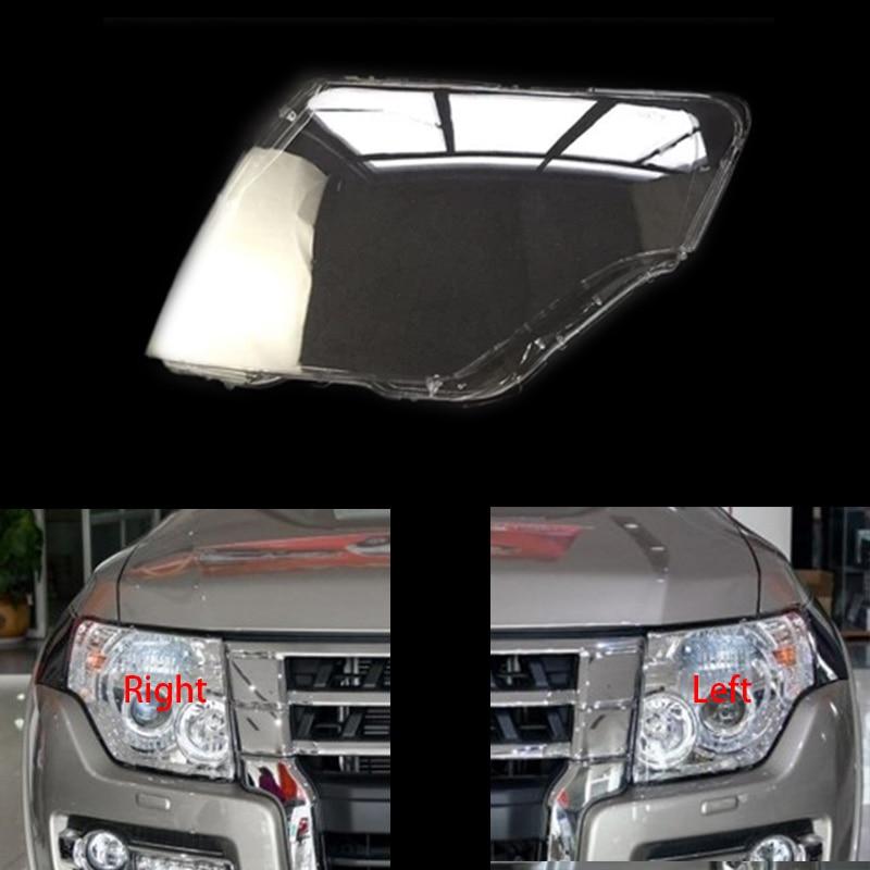 For MITSUBISHI Pajero V93 V97 V87 Headlamps Shell Transparent Lampshade Lampshade Headlight Cover Lens Glass Mitsubishi Pajero