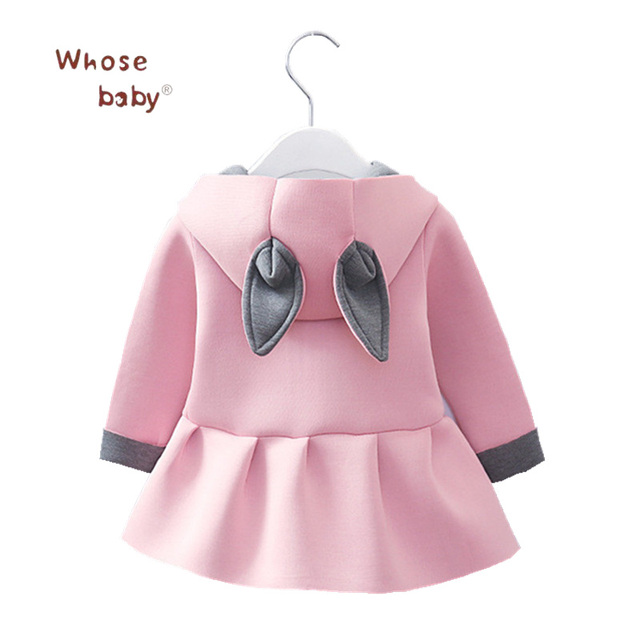4b5ca9b22546 Newborn Baby Girl Clothing Rabbit Winter Warm Cotton Coats Cute ...