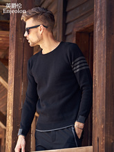 Enjeolon brand Knitting pullover Sweaters men Cotton sweater for men fashion o neck Sweater male casual pullover sweater MY3222