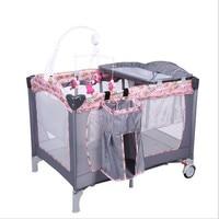 Пеленания станции для новорожденных девочек и мальчиков кровать детские кроватки Портативный складной Манеж кроватки ребенка сплава двой